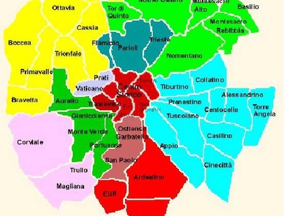 Roma Centro Cartina.Quartieri Di Roma Mappa E Lista Cosa Fare A Roma